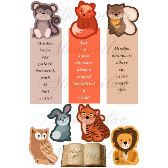 Könyvjelzők állatokkal