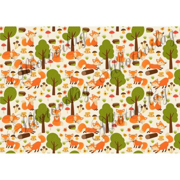 Rókák erdőben