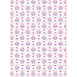 Rózsaszín baglyok sorban