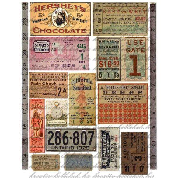 Kártyák vintage stílusban