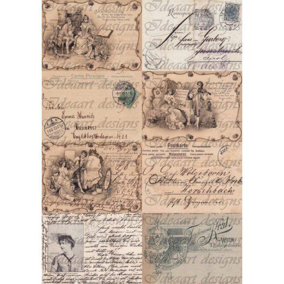 Régi képeslapok barnás árnyalatban