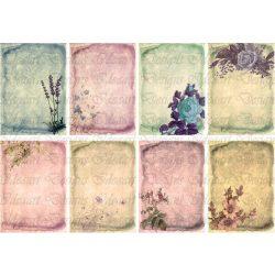 Flower vintage kártyák