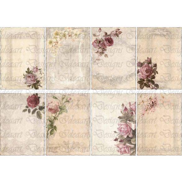 Romantikus rózsás kártyák