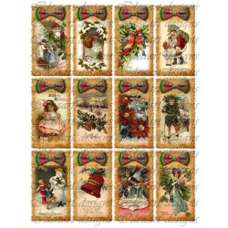 Karácsonyi vintage kártyák