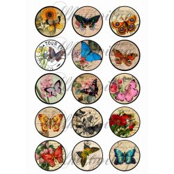 Vintage körök pillangókkal