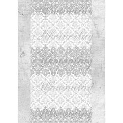 Shabby chic szürke- fehér minta