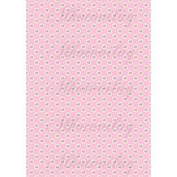 Shabby chic rózsaszín rózsák csipkés körökben rózsaszín alapon MINIBEN