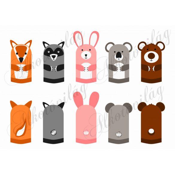 róka, mosómedve, koala, nyuszi, maci, mosómaci, medve