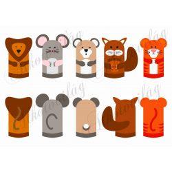 oroszlán, tigris, mókus, egér, maci