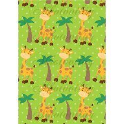 Szafaris papírok - zsiráfok