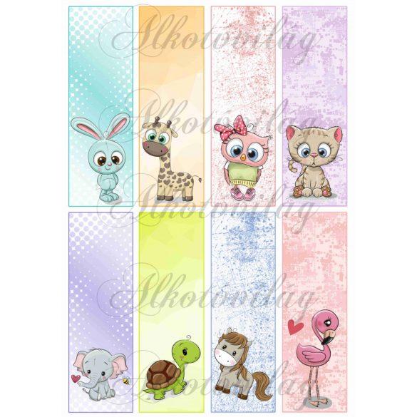 Könyvjelzők állatkákkal lányos színekben