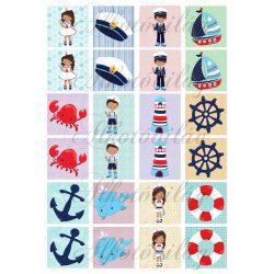 Memóriakártyák MATRÓZOS mintákkal