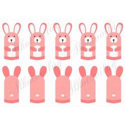 Ujjbábok- rózsaszín nyuszi csapat