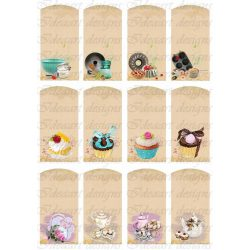 Kártyák konyhai mintákkal színesben