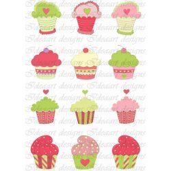 Színes muffinok