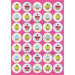 Muffinok pink háttérrel