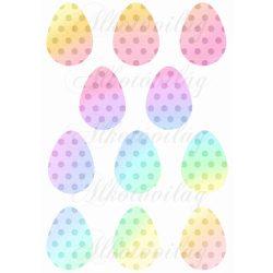 Szivárvány színű pöttyös tojások