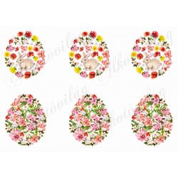 Tojások virágokból cuki nyuszival