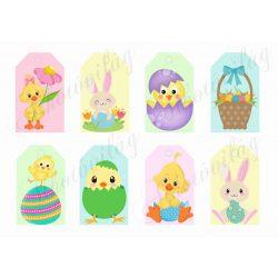 Húsvéti kártyák cuki figurákkal