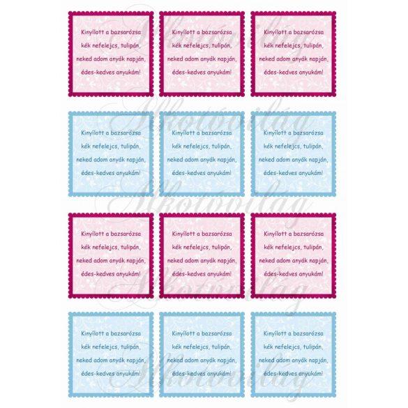 Anyák napi kicsi kártyák- idézettel
