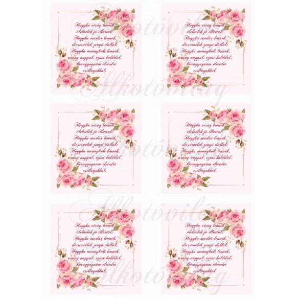Anyáknapi rózsás négyzetek