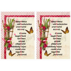 SZERETLEK ANYA kép rózsás díszekkel 2db