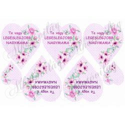 TE VAGY A LEGESLEGJOBB NAGYMAMA lila szívben