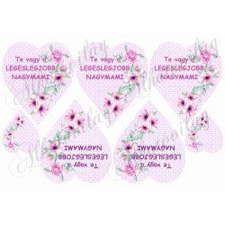 TE VAGY A LEGESLEGJOBB NAGYMAMI lila szívben