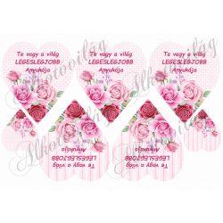 TE VAGY A VILÁG LEGESLEGJOBB ANYUKÁJA rózsás szívben