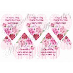TE VAGY A VILÁG LEGESLEGJOBB NAGYMAMÁJA rózsás szívben