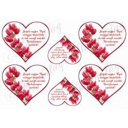 Szívek tulipánokkal + idézettel anyáknapjára- KERESZTANYUM szeretlek