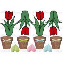 Tulipánok cseréppel