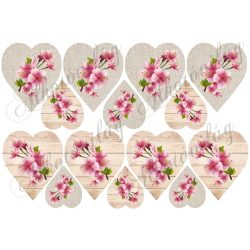 Szívek virágzó ágakkal