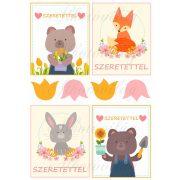 Tavaszi állatos kártyák - SZERETETTEL