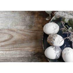 Húsvéti fotóháttér rusztikus stílusban tojásokkal termékfotózáshoz
