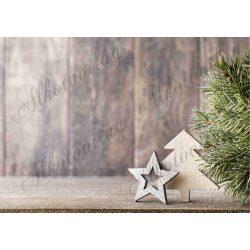 Fotóháttér  termékfotózáshoz - Fa fenyőfa, csillag barnás háttérrel
