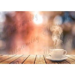 Fotóháttér  termékfotózáshoz - Gőzölgő kávé