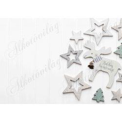 Fotóháttér  termékfotózáshoz - Kedves szarvas csillagokkal, felirattal
