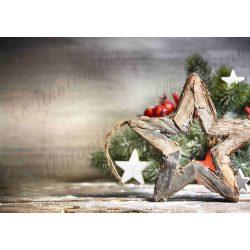 Fotóháttér  termékfotózáshoz - Nagy fa csillag