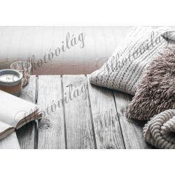 Fotóháttér  termékfotózáshoz - téli hangulat kötött pulcsival