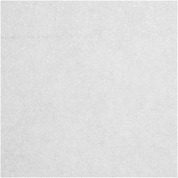 Csillámos filc anyag - 20x30 cm - FEHÉR