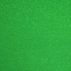 Csillámos filc anyag - 20x30 cm - KÖZÉPZÖLD