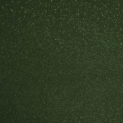 Csillámos filc anyag - 20x30 cm - SÖTÉTZÖLD