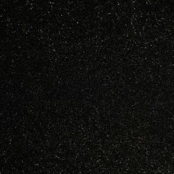 Csillámos filc anyag - 20x30 cm - FEKETE
