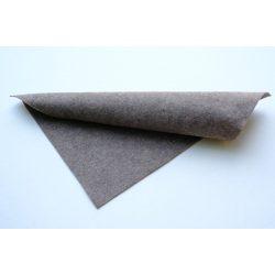 Puha egyszínű filc anyag KÖZÉPBARNA- MELANGE 20x30 cm