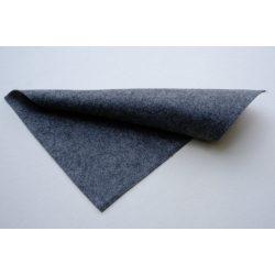 Puha egyszínű filc anyag SÖTÉTSZÜRKE MELANGE- 20x30 cm