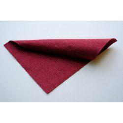 Puha egyszínű filc anyag VILÁGOS BORDÓ MELANGE - 20x30 cm