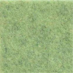 Puha egyszínű filc anyag VILÁGOSZÖLD MELANGE (SZÜRKÉVEL) - méterben