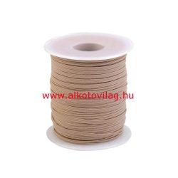 Kalapgumi BÉZS - 3 mm széles - lapos