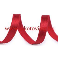 Szatén gumi PIROS - 10 mm